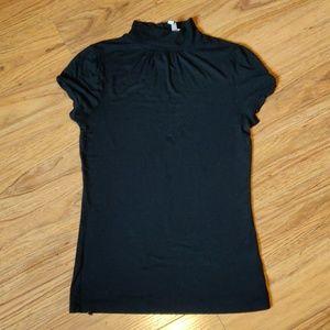 3/$20 GUC mock turtle neck black shirt